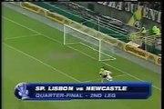 14.04.2005 - 2004-2005 UEFA Cup Quarter Final 2nd Leg Sporting Lisbon 4-1 Newcastle United
