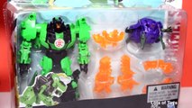 Grimlock vs Decepticon Back Transformers Robots in Disguise Toy Review Lots of Toys