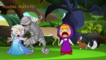 Masha giving Cake Frozen Elsa, PJ Masks Catboy Owlette Masha and The Bear Spiderman Dora Crying