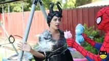 Spiderman Vs Maleficent Funny Superheroe In W Ugly Elsa