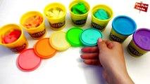 Играть и изучать цвета радуги с пластелина | как сделать Play-doh Радуга легко