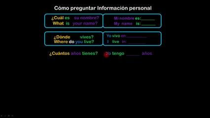 Lesson 09 S(EXTRA 4) Preguntas de Información Personal