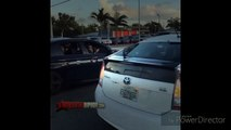 Wild: Dudes Out In Miami Driving Through Traffic Showing Off A Draco!