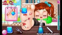 Baby Health Caring Game Movies-The Foot Baby Doctor Video Play for Little Kids