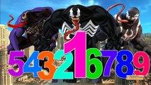 Venom Cartoon 123 Song For Children | Venom 123 Numbers For Kids | 123 Songs Nursery Rhymes