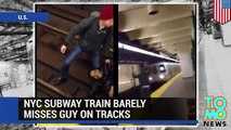 Man run over by train  NYC subway train caught on camera running over screaming man (VIDEO)