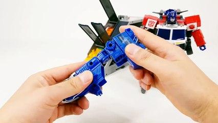 Transformers Energon Grand Optimus Prime SuperLink Grand Convoy Combine 5 Vehicle Robot Car Toys