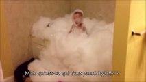 Quand tu laisses ton gamin seul dans un bain moussant ça dégénère...