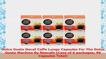 Dolce Gusto Decaf Caffe Lungo Capsules For The Dolce Gusto Machine By Nescafe Case of 6 97ca5a75