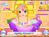 Great Baby Bathing Games with Rapunzels Baby Shower Video Play-Tangled Rapunzel Games