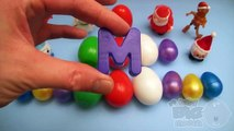 Kinder Surprise Egg Learn A Word! Spelling Holiday and Christmas Words! Lesson 23