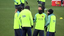 FC Barcelona training session: All ready for the Copa del Rey quarter final against Real Sociedad