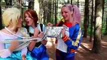 Why is Frozen Elsa CRYING- w_ Spiderman Maleficent Joker Pink Spidergirl Princess Anna Superhero Fun - YouTube