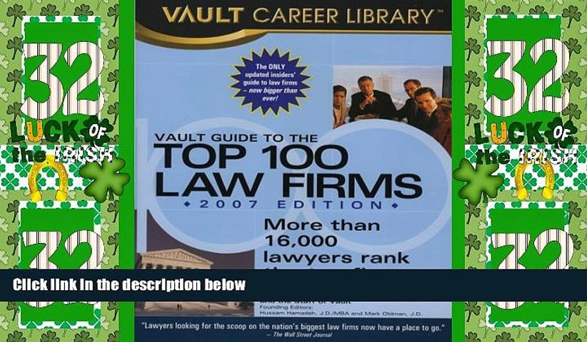 Must Have PDF  Vault Guide to the Top 100 Law Firms  Full Read Most Wanted