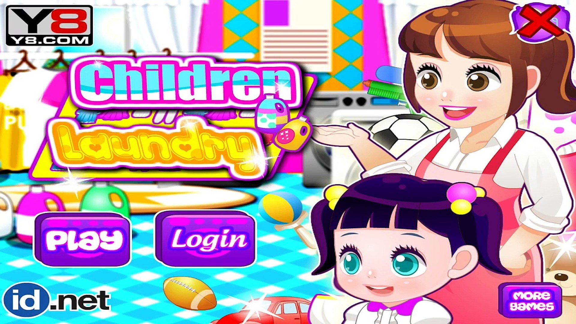 Children Laundry Washing & Dress Up Funny Daily Routine Game for Kids