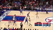 Jerami Grant Blocks Tim Hardaway Jr   Hawks vs Sixers   October 29, 2016   2016-17 NBA Season