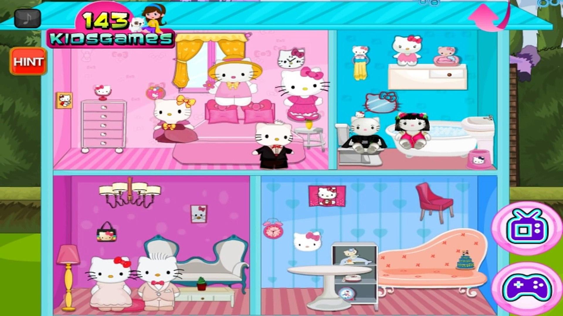 Hello Kitty Wedding Doll House Decoration - Hello Kitty Games