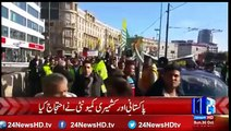In Germany protest against Indian atrocities in Kashmir
