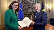 رهبران کانادا و اتحادیه اروپا پیمان توافق تجاری را امضا می کنند