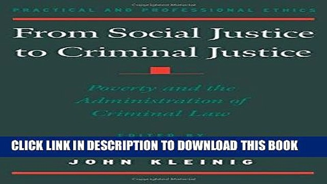 Ebook From Social Justice to Criminal Justice: Poverty and the Administration of Criminal Law