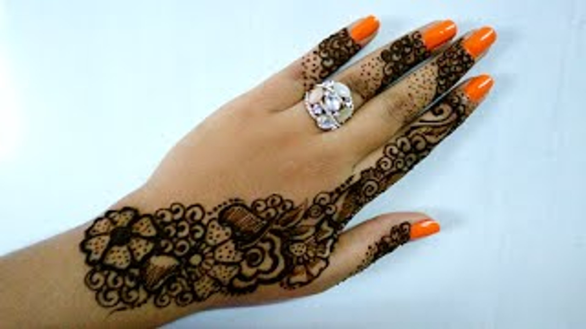 Easy Diy Beautiful Arabic Henna Mehndi Design Simple And Easy Step By Step For Hands Episode 125 By Art Institute Video Dailymotion