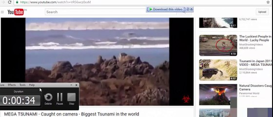 MEGA TSUNAMI Caught on camera Biggest Tsunami in the world caught on