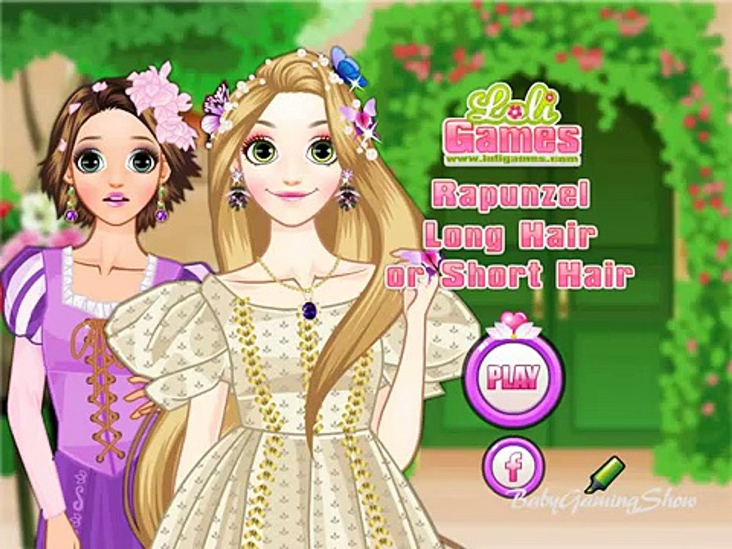 Baby Games For Kids Rapunzel Long Hair Or Short Hair Video Dailymotion