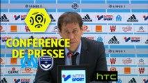 Conférence de presse Olympique de Marseille - Girondins de Bordeaux (0-0) : Rudi GARCIA (OM) - Jocelyn GOURVENNEC (GdB) - 2016/2017