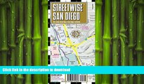 FAVORIT BOOK Streetwise San Diego Map - Laminated City Center Street Map of San Diego, California