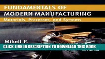 Ebook Fundamentals of Modern Manufacturing: Materials, Processes, and Systems Free Read