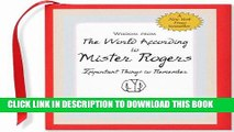 Best Seller Wisdom from the World According to Mister Rogers: Important Things to Remember (Mini