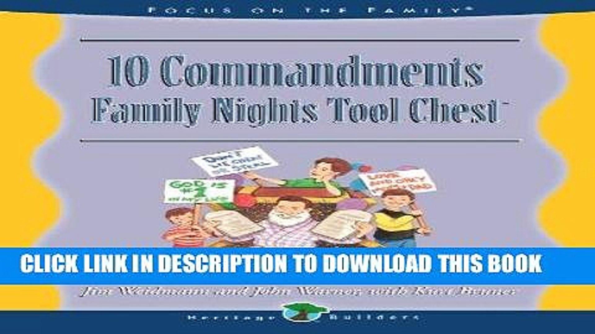 Pdf Ten Commandments Family Nights Tool Chest Full Online