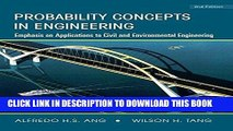 PDF Download Probability Concepts in Engineering: Emphasis