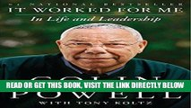[FREE] EBOOK It Worked for Me: In Life and Leadership ONLINE COLLECTION