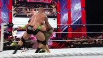 John Cena & Roman Reigns vs. Randy Orton, Seth Rollins & Kane - 3-on-2 Handicap Match: Raw, July 14,
