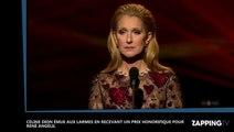 ADISQ : Céline Dion émue aux larmes en recevant un prix honorifique pour René Angélil
