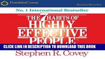 Best Seller The 7 Habits of Highly Effective People: Powerful Lessons in Personal Change Free Read