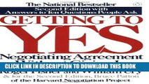 [Free Read] Getting to Yes: Negotiating Agreement Without Giving In Free Online