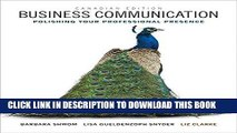 ee Read] Business Communication: Polishing Your Professional Presence, First Canadian Edition Plus