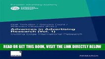[Free Read] Advances in Advertising Research (Vol. 1): Cutting Edge International Research