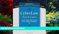 Big Deals  CyberLaw: Text and Cases  Full Ebooks Most Wanted
