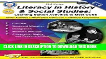Read Now Literacy in History and Social Studies, Grades 6 - 8: Learning Station Activities to Meet