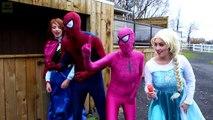 Frozen Elsa LOSES HER HEAD! (Spiderman Joker Maleficent Spidergirl Zombie Batman! Superheroes)