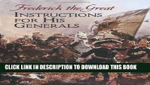 Read Now Instructions for His Generals (Dover Military History, Weapons, Armor) PDF Online