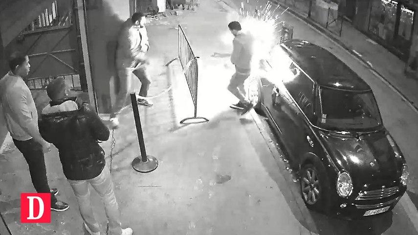FLASH INFO - 31 -10-2016 - Images spectaculaires de l'explosion d'une batterie de cigarette électronique qui a gravement brûlé une personne