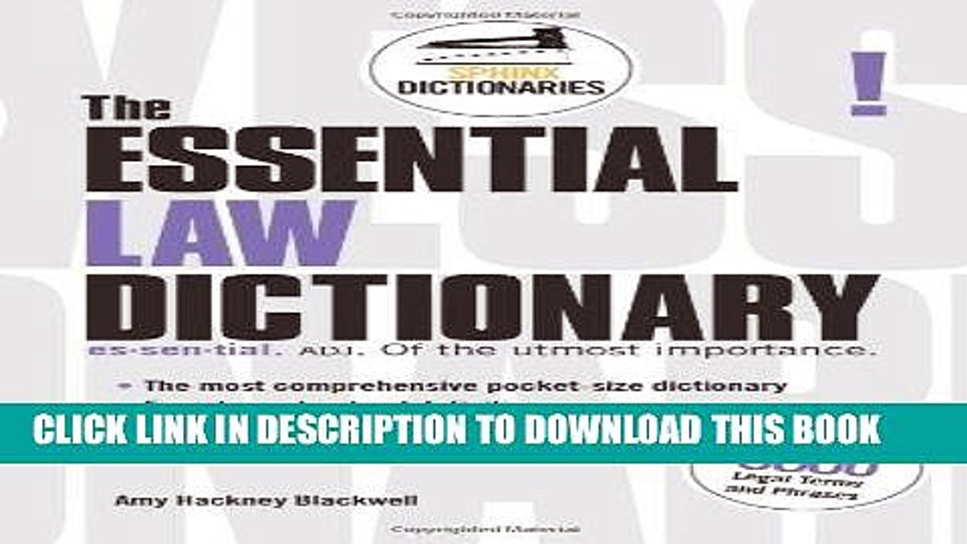 The Essential Accounting Dictionary (Sphinx Dictionaries)