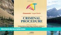 Big Deals  Casenote Legal Briefs: Criminal Procedure - Keyed to Haddad, Zagel, Starkman   Bauer