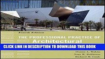 Best Seller The Professional Practice of Architectural Working Drawings Free Read