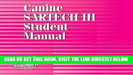 [READ] EBOOK Canine SARTECH Workbook: Canine SARTECH III Student Manual ONLINE COLLECTION