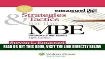 [READ] EBOOK Strategies   Tactics for the MBE, Fifth Edition (Emanuel Bar Review) ONLINE COLLECTION